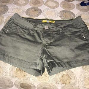 YMI army green jean shorts
